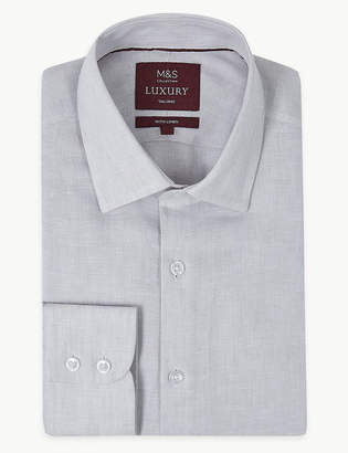 488222b7 M&S Collection LuxuryMarks and Spencer Linen Rich Tailored Fit Shirt