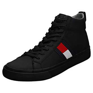 Tommy Hilfiger Men s Flag Detail High Leather Sneaker Hi-Top Trainers 03d79e803