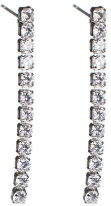 Kenneth Jay Lane CZ By Linear CZ Drop Earrings