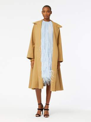 Oscar de la Renta Cotton-Twill Coat