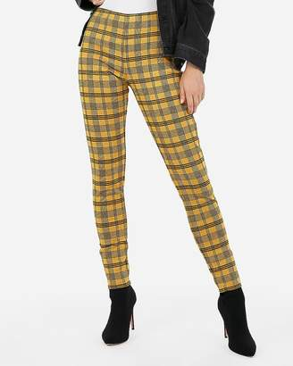 Express High Waisted Plaid Ankle Leggings