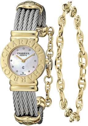 Charriol Women's 028C540462 St Tropez Analog Display Swiss Quartz Silver Watch