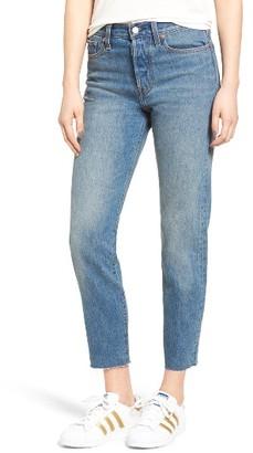 Women's Levi's Wedgie Icon Fit High Waist Crop Jeans $88 thestylecure.com