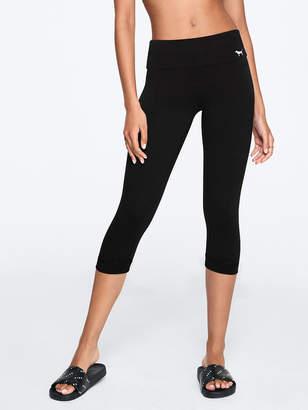 PINK Foldover Waist Crop Yoga Legging