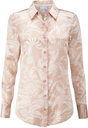 Next Womens Pure Collection Gold Silk Satin Blouse