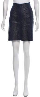 Calypso Snakeskin-Printed Mini Skirt