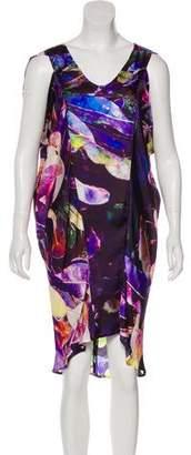 Zero Maria Cornejo Printed Knee-Length Dress w/ Tags
