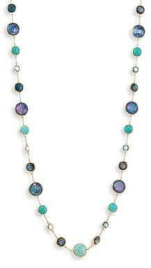 Ippolita Lollipop Lapis Lazuli, Opal, Amazonite, Turquoise, Blue Topaz & 18K Yellow Gold Station Necklace