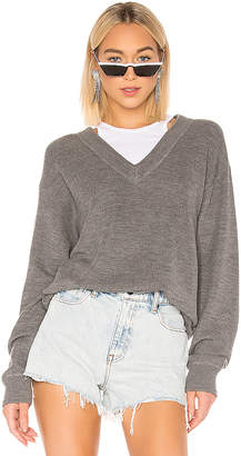 Alexander Wang Bi Layer V Neck With Inner Tank Sweater