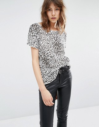 Suncoo Macha Leopard Print T-Shirt $88 thestylecure.com