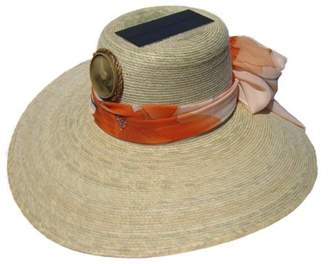 Kool Breeze Solar Hat Kool Breeze Solar Straw Cooling Hat - Lady's Floppy w. Starter Scarf (One/Size)