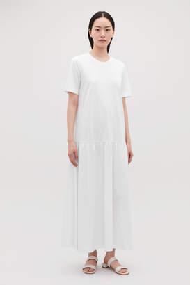 Cos LONG DRESS WITH FRILLED HEM