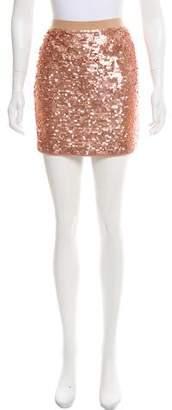 BCBGMAXAZRIA Embellished Mini Skirt