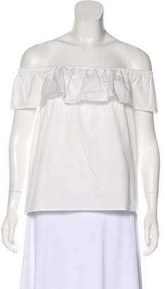 Rebecca Minkoff Off-The-Shoulder Crop Top