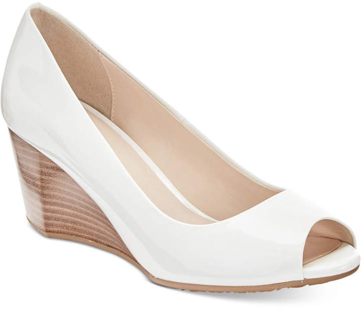 Cole Haan  Cole Haan Sadie Open-Toe Wedge Pumps