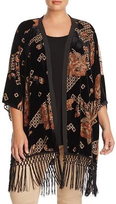 Daniel Rainn Plus Velvet Burnout Kimono $92 thestylecure.com