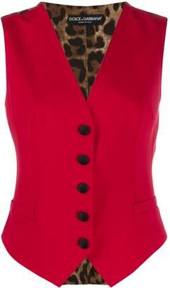 Dolce & Gabbana animal print panel waistcoat