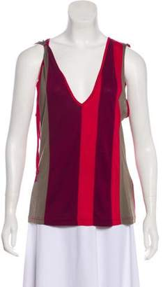 Cacharel Striped Sleeveless Top