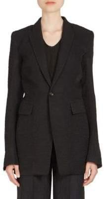 Rick Owens Long Wool& Silk Blazer
