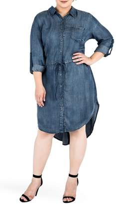 Standards & Practices Princessa Denim Shirtdress