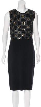 Giambattista Valli Wool Knit Midi Dress