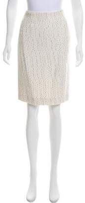 Lela Rose Tweed Pencil Skirt