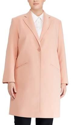 Lauren Ralph Lauren Crepe Reefer Coat
