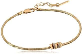 Kenneth Cole New York Women's Gold Tone Round Chain Anklet