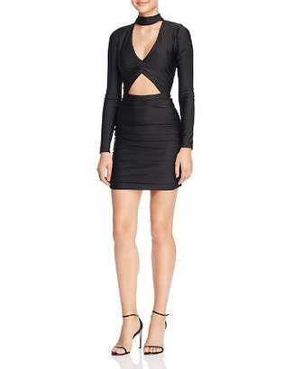 Roxy Tiger Mist Ruched Cutout Body-Con Dress