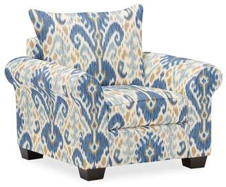 Pottery Barn PB Comfort Roll Arm Upholstered Armchair - Print and Pattern