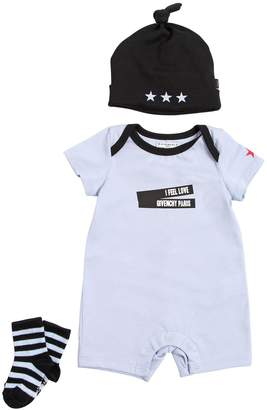 Givenchy Cotton Jersey Romper, Hat & Socks