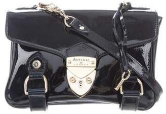 Aspinal of London Patent Leather Crossbody Bag gold Patent Leather Crossbody Bag