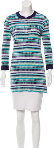 Tory BurchTory Burch Silk Striped Tunic