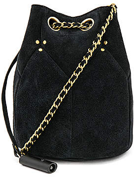 black cross body bag with chain