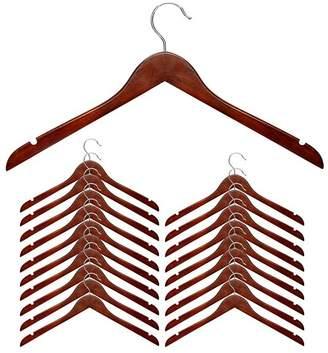 Honey-Can-Do Cherry Wood Shirt Hanger, Set of 20