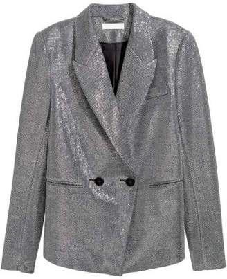 H&M Glittery Jacket - Silver