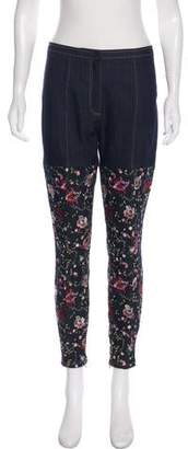 Cinq à Sept Embroidered Mid-Rise Jeans w/ Tags