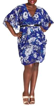City Chic Bluebird Belted Dress