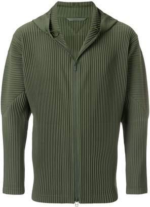 Homme Plissé Issey Miyake pleated zip-up hoodie