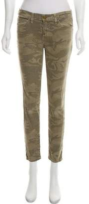 Current/Elliott Camouflage Mid-Rise Jeans