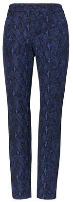 Banana Republic Petite Sloan Skinny-Fit Snake-Print Ankle Pant