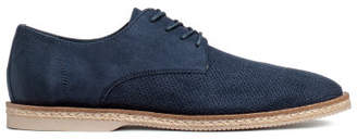H&M Perforated-pattern Derby Shoes - Blue