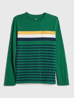 Gap Stripe Pocket Long Sleeve T-Shirt