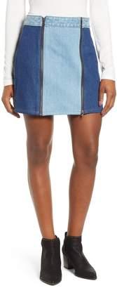 1 STATE 1.STATE Colorblock Denim Miniskirt