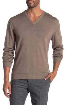 Bugatchi V-Neck Virgin Wool Sweater