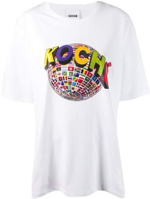 Koché globe print T-shirt