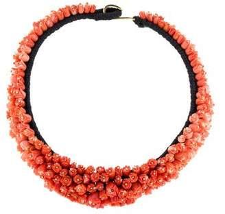 Lotus Arts de Vivre 18K Coral Collar Necklace
