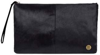Mahi Leather Classic Clutch Bag In Black Pony Fur