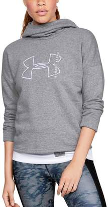 Under Armour Women's Rival Graphic Funnel-Neck Hoodie