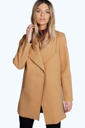 boohoo Boutique Debbi Bonded Camel Coat